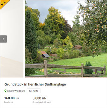 Grundstück verkaufen - Garten verkaufen - Wald verkaufen