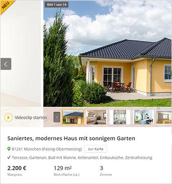 Haus vermieten,  Haus zu vermieten